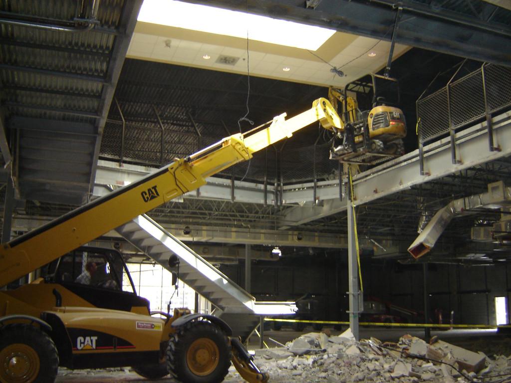 Spotting Equipment for Multiple-Story Building